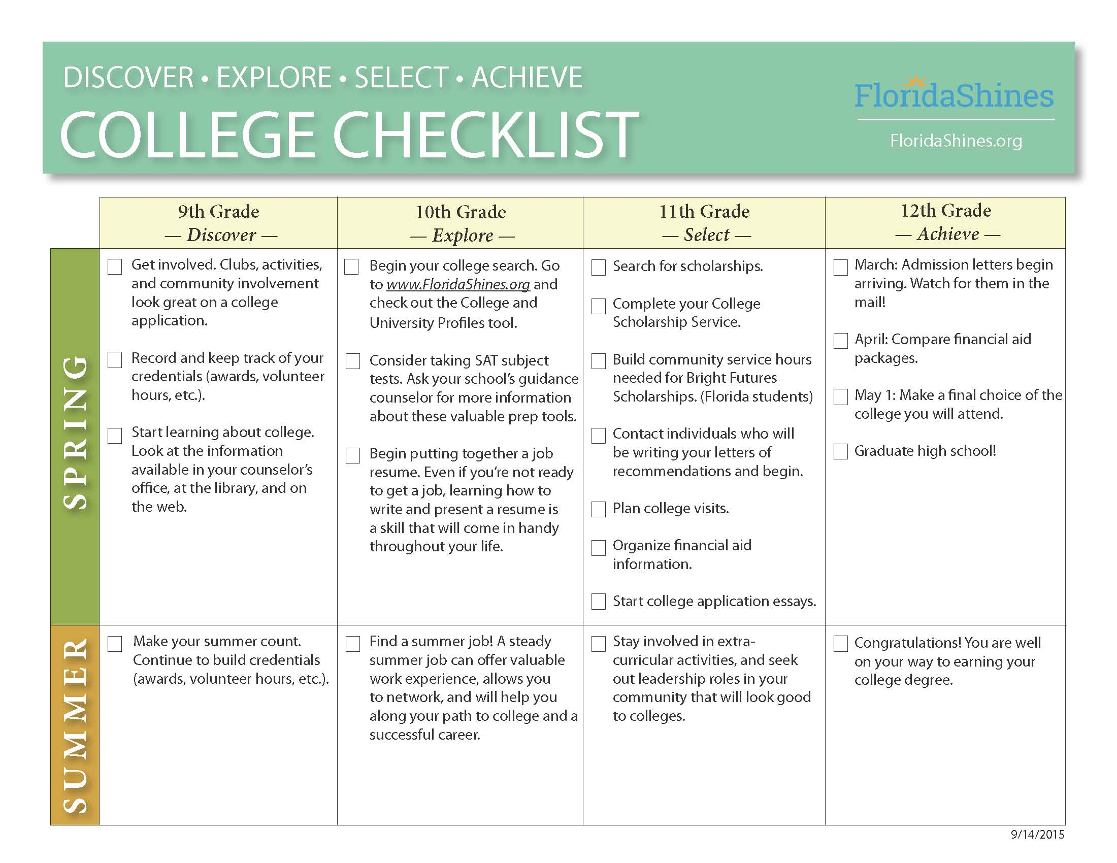 college career center sunlake high school college planning timeline page 1 college planning timeline page 2