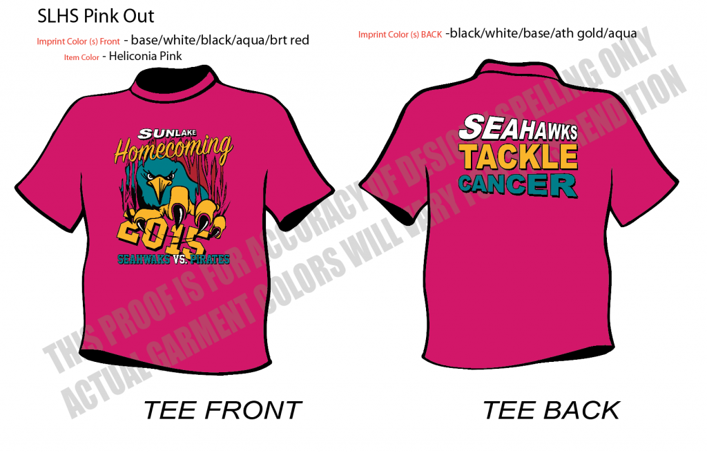 pink out homecoming shirts