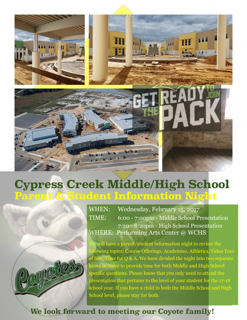 Cypress Creek Middle High Parent Amp Student Information