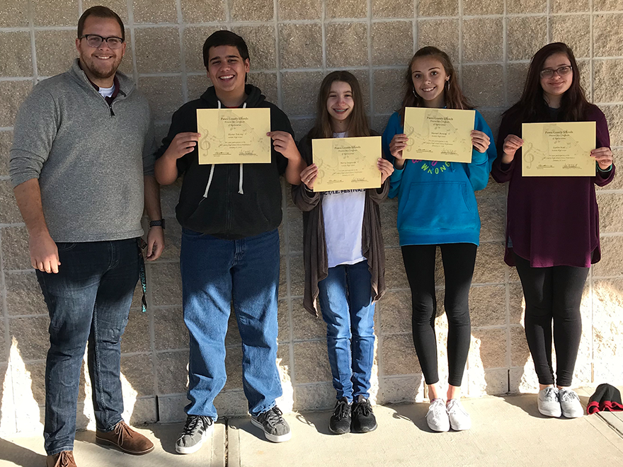 Congratulations to our All County Choir participants!