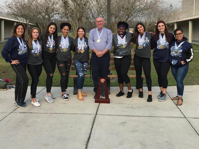 Sunlake High School's State Championship Girls Weightlifting Team