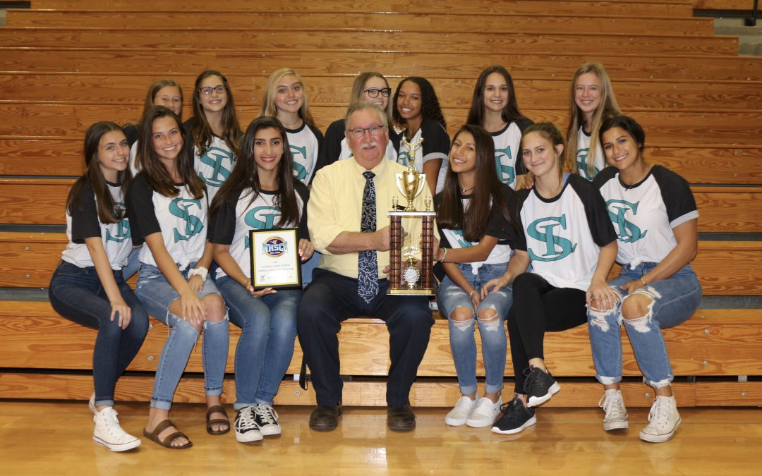 Mr Cloyd and the Cheer Team Celebrate a Successful Year