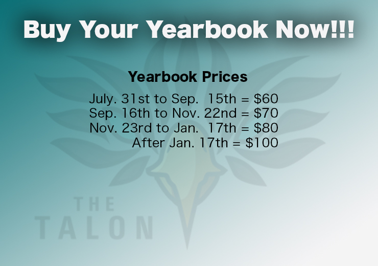 Order Your Yearbook Now!!!