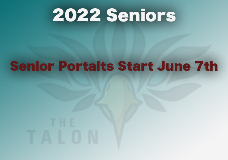 Class of 2022 Senior Portraits Start June 7th, 2021